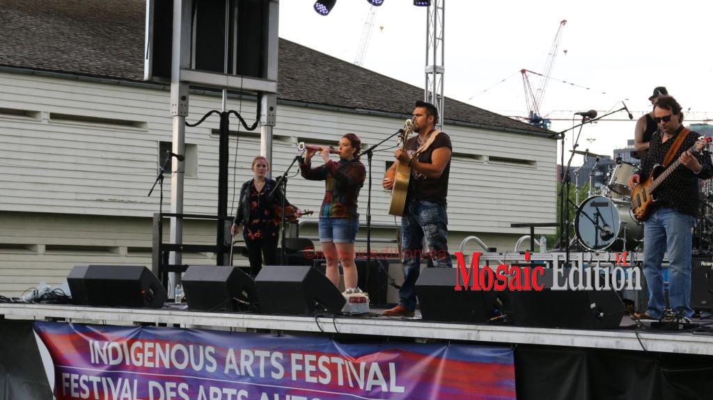Jaaji and Chelsey June carried their positive message to the Indigenous Arts Festival in Toronto