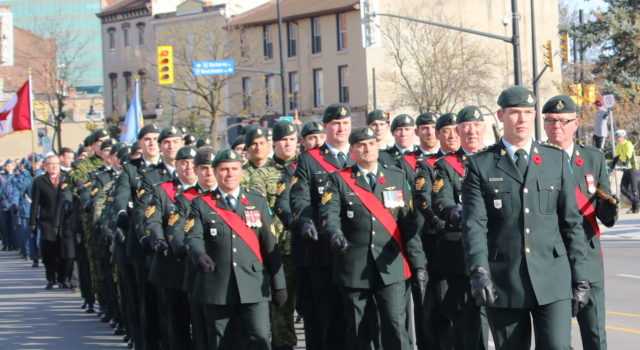 Remembrance Day Ceremony - St. Catharines- file photo mosaicedition.ca-ea
