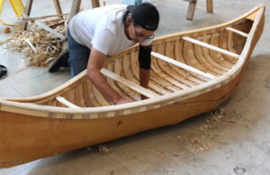 Chuck Commanda builds the Birch Bark Canoe – Indigenous symbol of reconciliation.