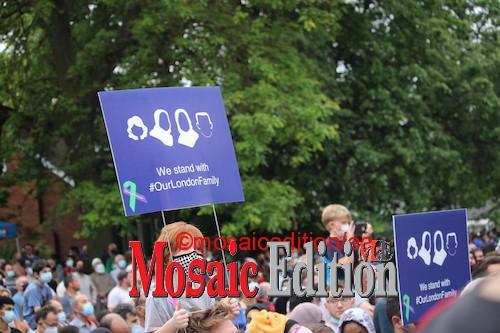 Vigil for Muslim family - Photo Mosaic Edition Edward Akinwunmi