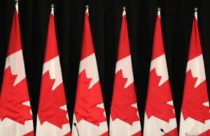 Canadian Flag - File Photo Media Conference - Photo Mosaic Edition Edward Akinwunmi