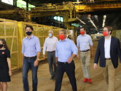 Trudeau - Valbruna ASW INC - Welland. Trudeau, Chrystia Freeland - Minister of Finance, at Valbruna ASW INC., Welland. Incumbent Liberal candidates for Niagara region in September 20 election accompanied them. According to the website of the company, Valbruna ASW INC is a premier specialty steel making facility. It offers a combination of carbon, stainless, and other specialty steel making capabilities. Photo Mosaic Edition Edward Akinwunmi.
