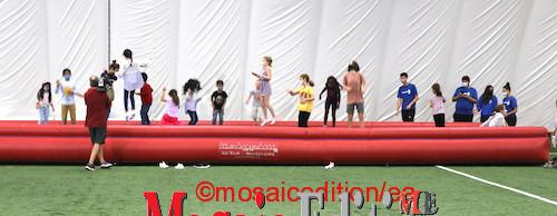 Justin Trudeau was in Hamilton this morning, a day after the national English debate for Election 21. Trudeau started his event at the Soccer World playing with kids. Photo Mosaic Edition Edward Akinwunmi