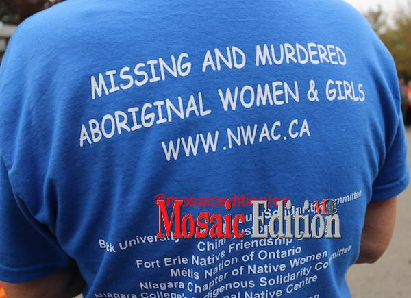 Sisters In Spirit – Native Women's Association of Canada – SIS Vigil St. Catharines – October 4, 2021. Photo Mosaic Edition Edward Akinwunmi